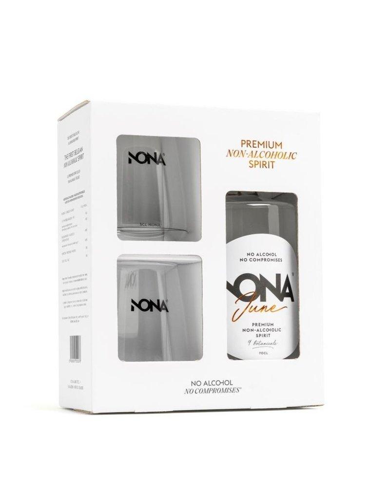 Nona Drinks Nona June - Giftpack - fles 70cl + 2 glazen