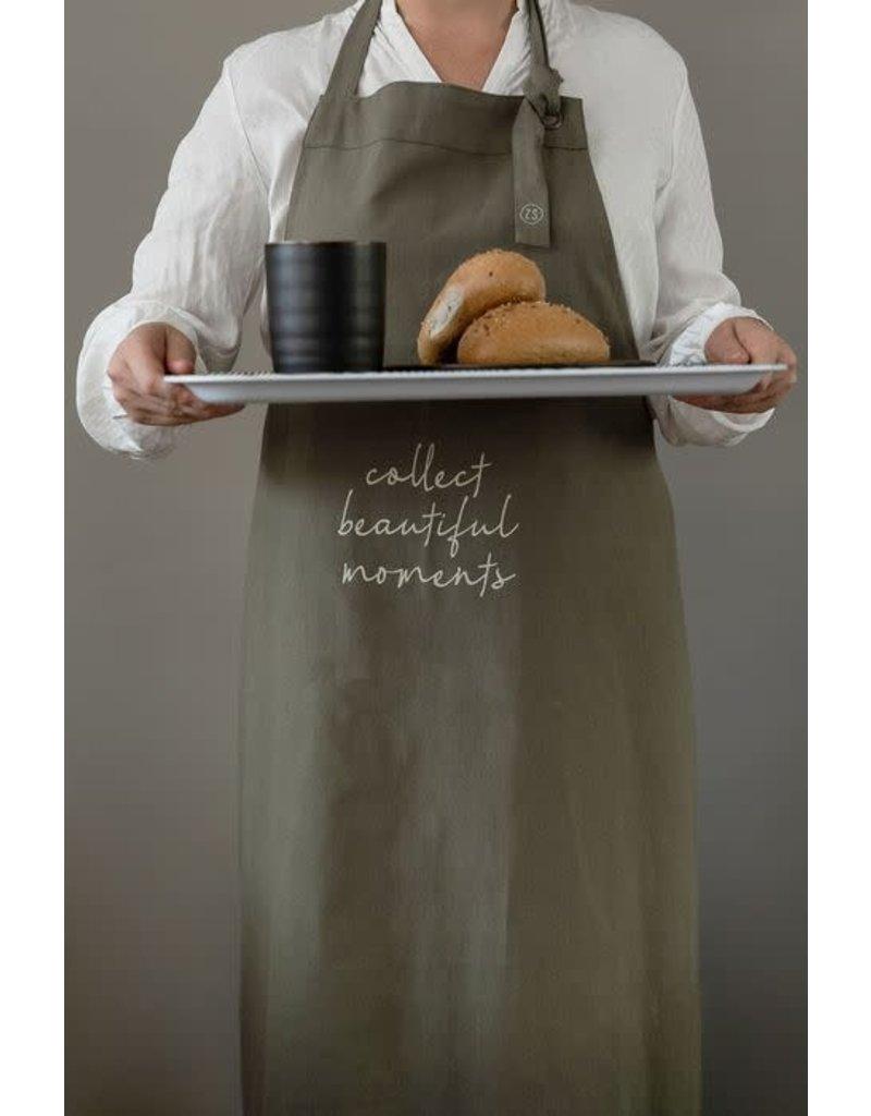 Zusss Keukenschort 'Collect moments' - donkergroen