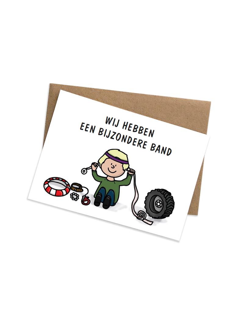 Graag Design Kaartje Graag-Design 'Bijzondere band'
