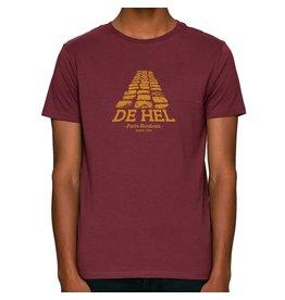 THE VANDAL T-shirt 'De Hel' - Bordeaux