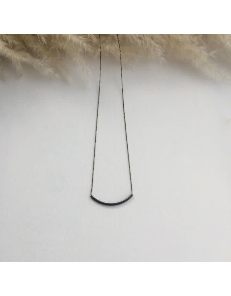 Woood Jewels Ketting in messing 'Ferm' - 80 cm