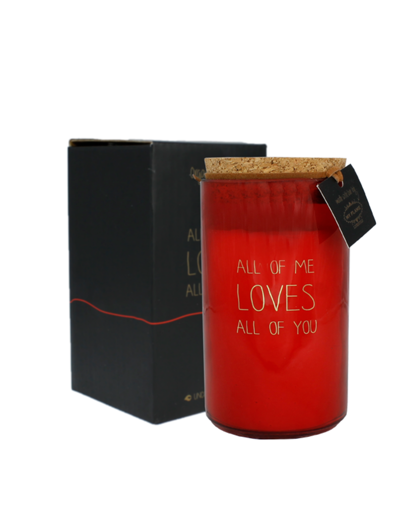 My Flame Lifestyle Geurkaars - All of me loves all of you