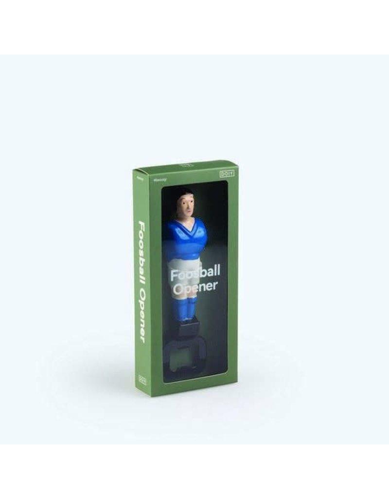 DOIY Flessenopener 'Tafelvoetbal', blauw