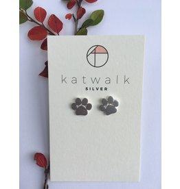 Katwalk Zilver Zilver oorstekers - Hondenpootje