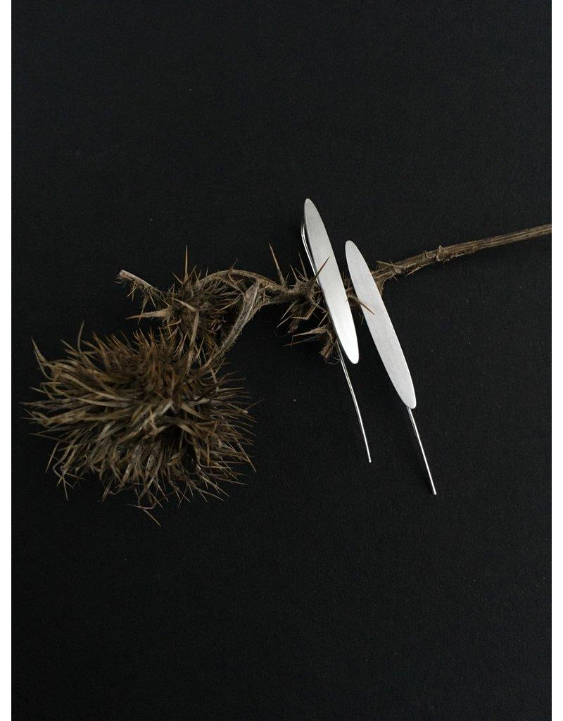 Katwalk Zilver Zilver oorhanger - lange ellips