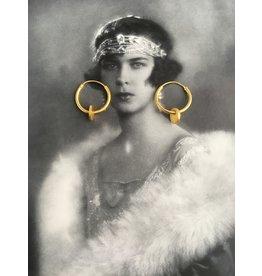 Katwalk Zilver Verguld zilver oorringetje in plaatje