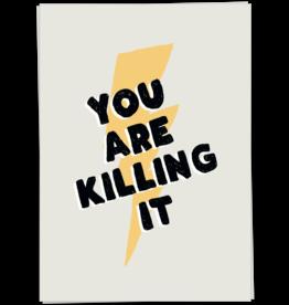 KaartBlanche Kaartje – Killing it