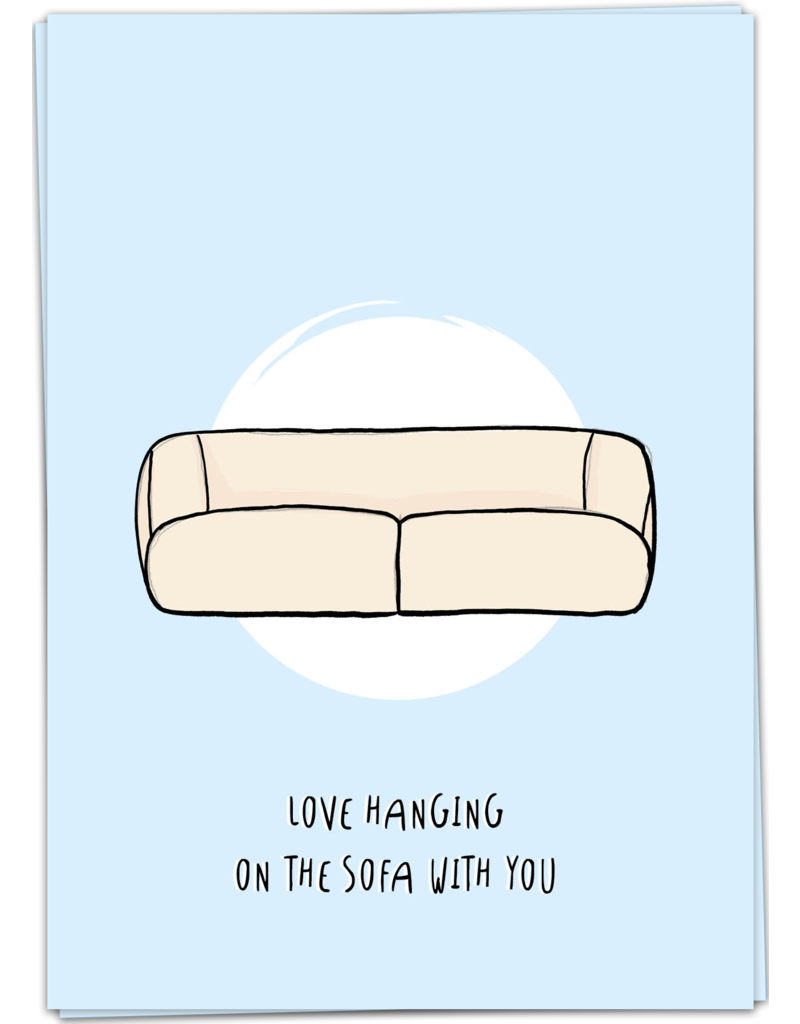 KaartBlanche Kaartje – Sofa hanging
