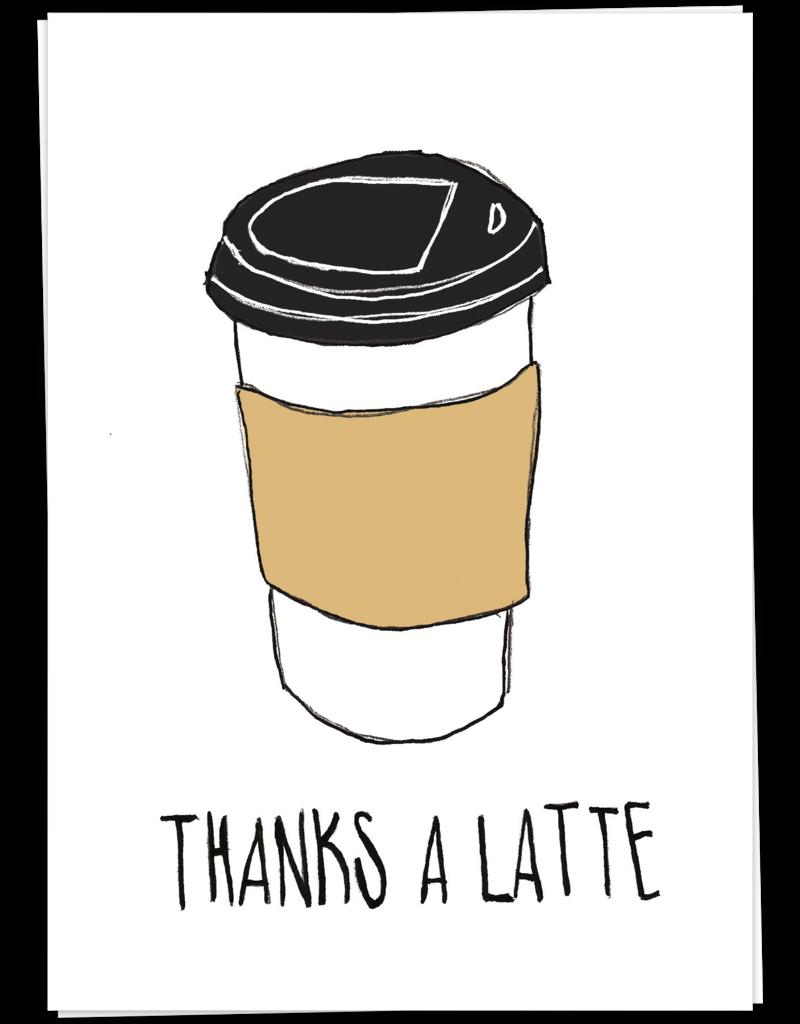 KaartBlanche Kaartje – Thanks a latte