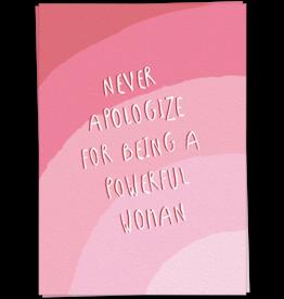 KaartBlanche Kaartje – Never apologize