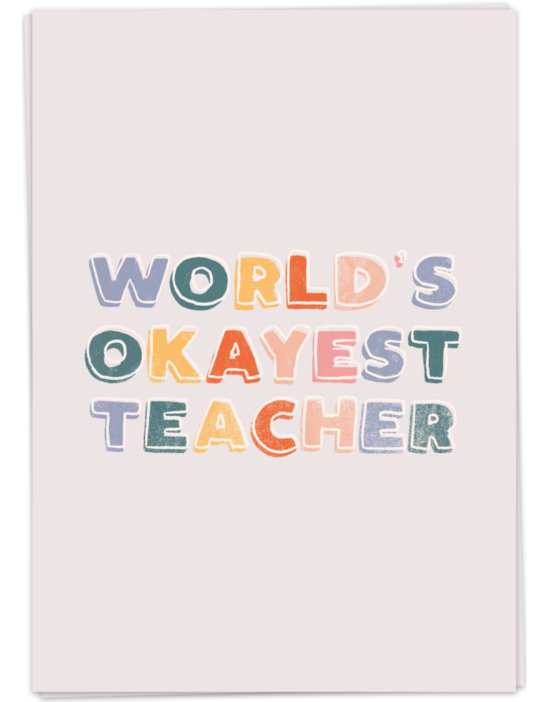 KaartBlanche Kaartje –Okayest teacher