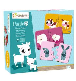 Avenue Mandarine 2-pieces puzzles - Mum/Baby - vanaf 2j