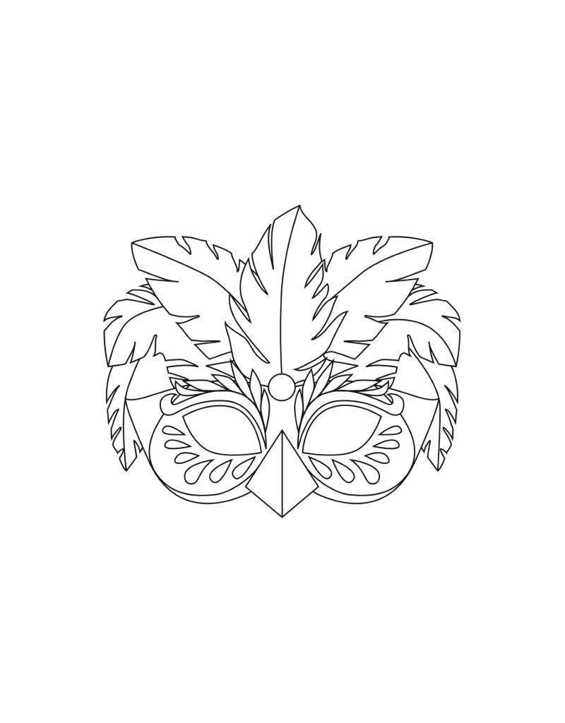 Avenue Mandarine Set van 24 maskers - Rio