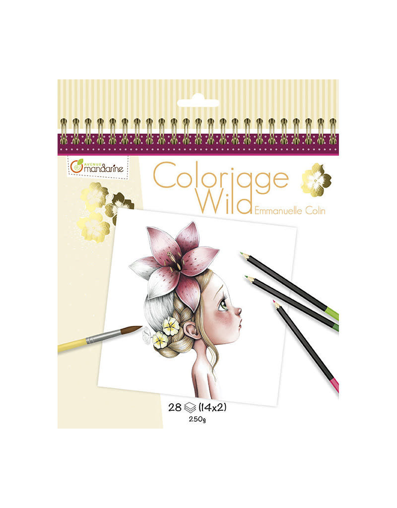 Avenue Mandarine Collector's colouring book