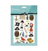 Maildor Set van 6 stickervellen - Piraten