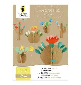 choubidous 'Mijn cactussen' - set om te knutselen met papier en karton