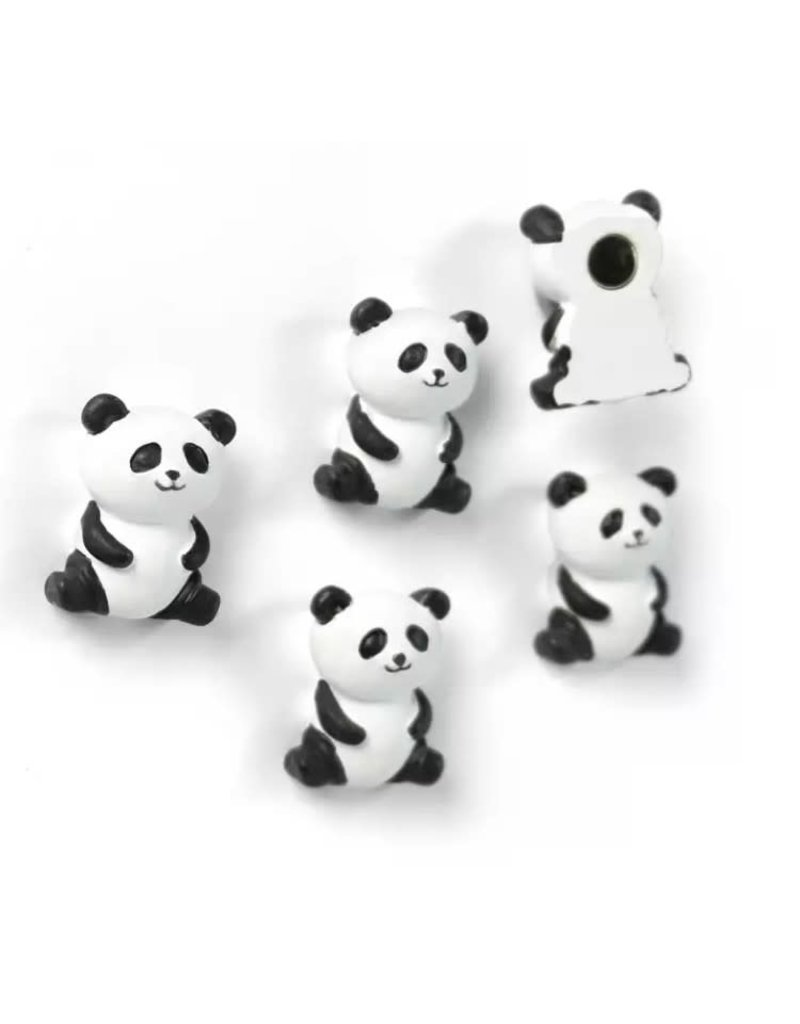 abodee Magneten 'Panda' - 5 stuks