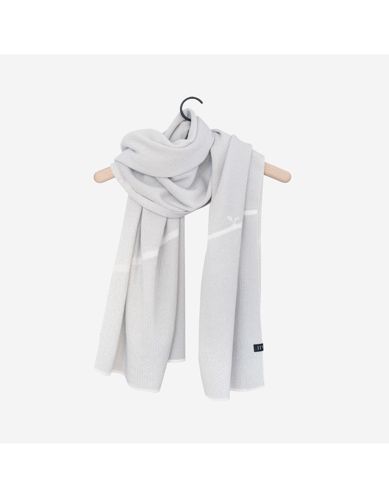 Moonoo Sjaal Moonoo - Growing marble white