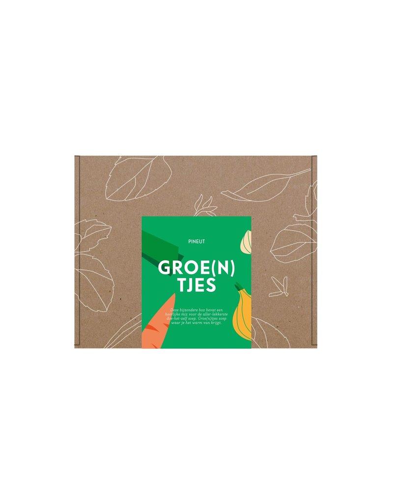 Pineut Brievenbusdoosje 'Hartelijke groe(n)tjes' - DIY groentensoep