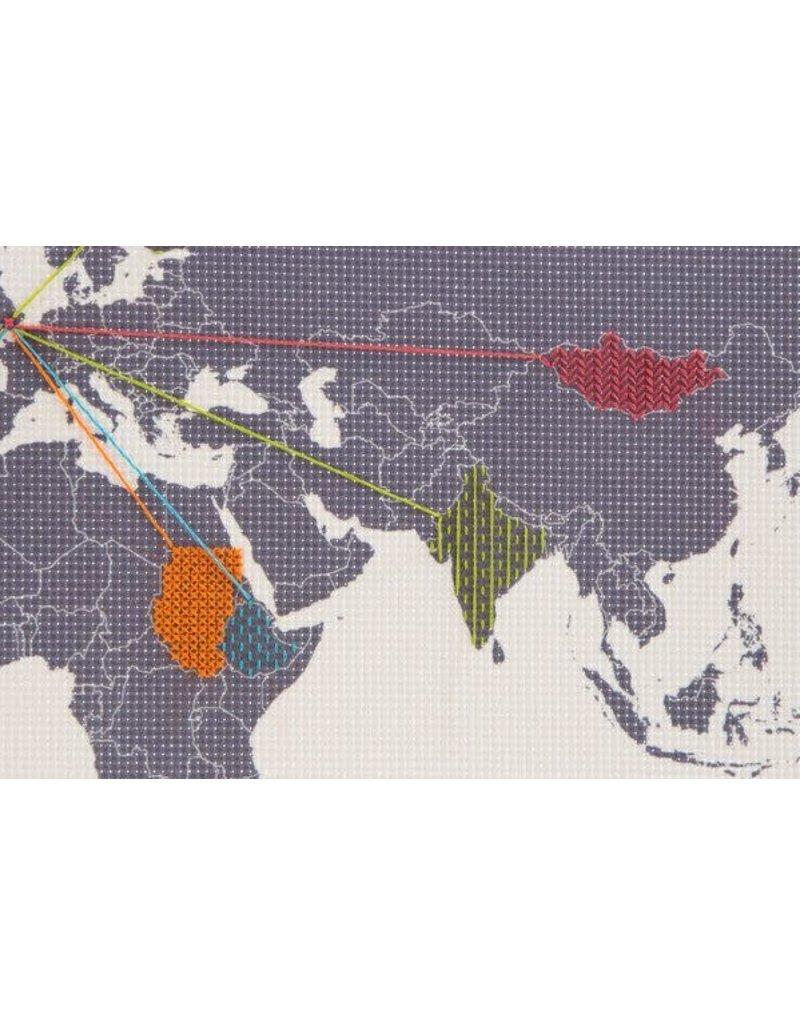 Suck UK Cross stitch map small