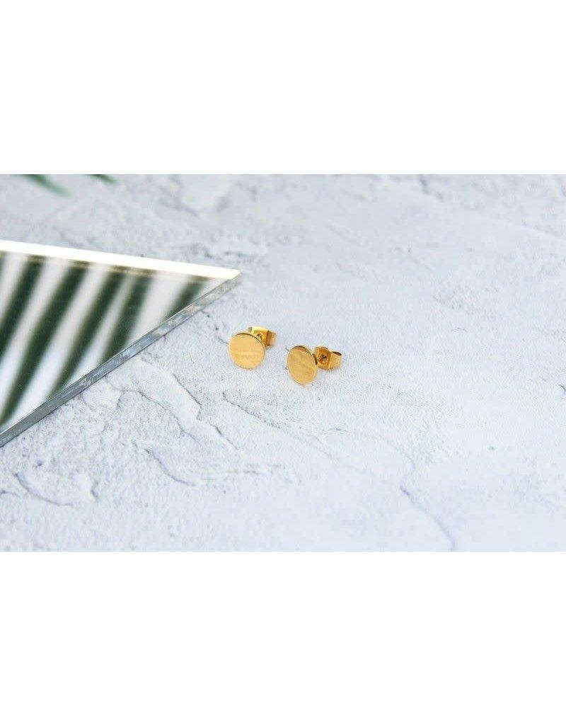 KuKu London Earrings Circle- Gold