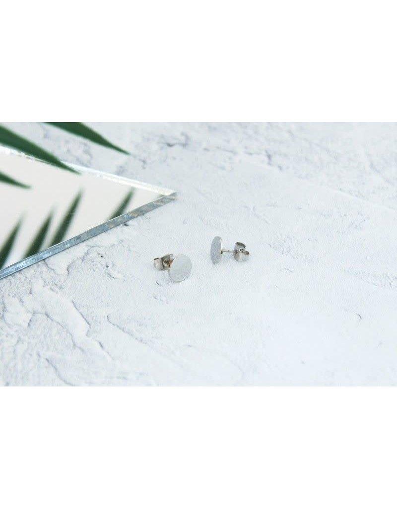 KuKu London Earrings Circle- Silver