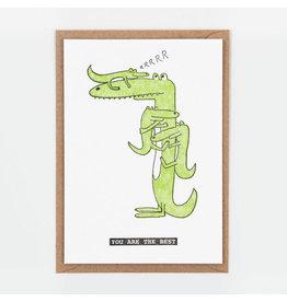 STUDIOFLASH Kaart 'Crocodile kids...'
