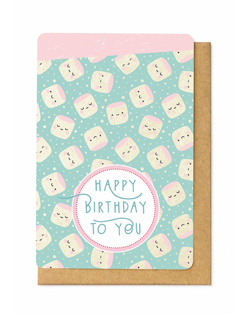 Enfant Terrible Wenskaart Enfant Terrible - Happy Birthday - marshmallow