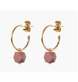 Jacqueline & Compote Facet small hoops - Sienna