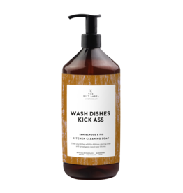 The Gift Label Kitchen cleaning soap - 'Wash dishes kick ass'
