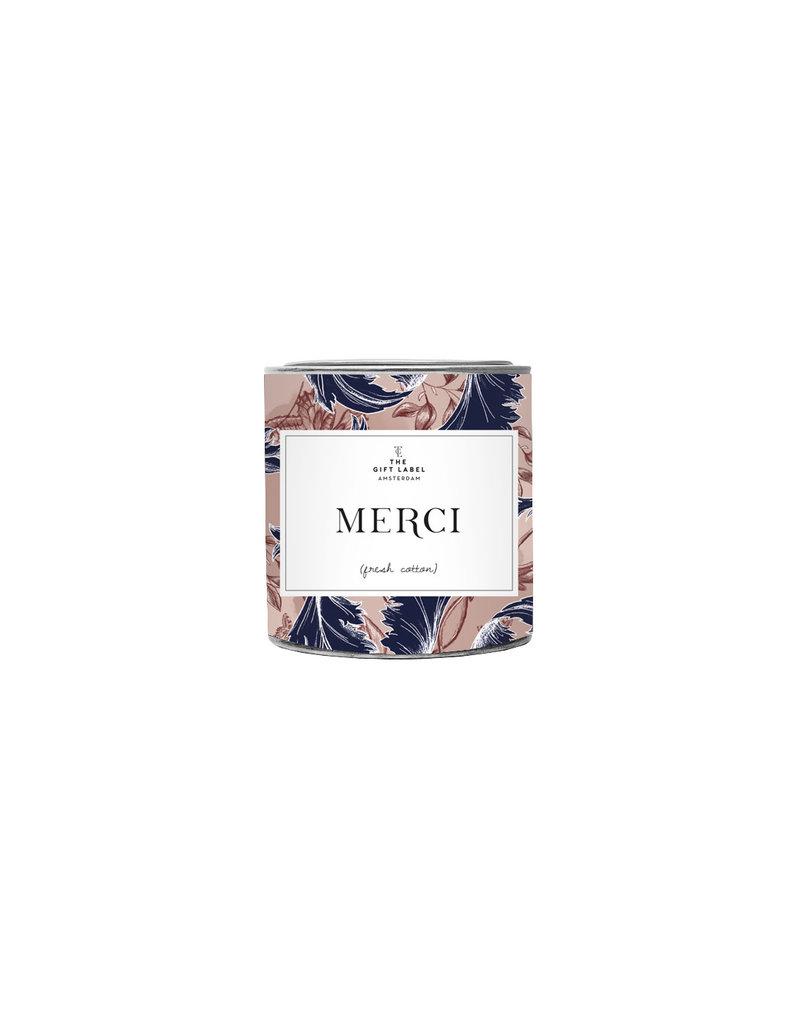 The Gift Label Kaars tin klein - Merci