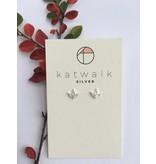 Katwalk Zilver Zilver oorstekers - hangende bloem