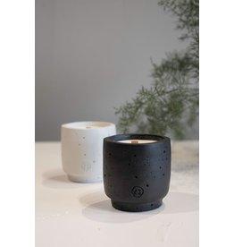 Zusss Buitenkaars met houten lont - zwart