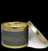 My Flame Lifestyle Geurkaars in blikje - 'Congratulations'