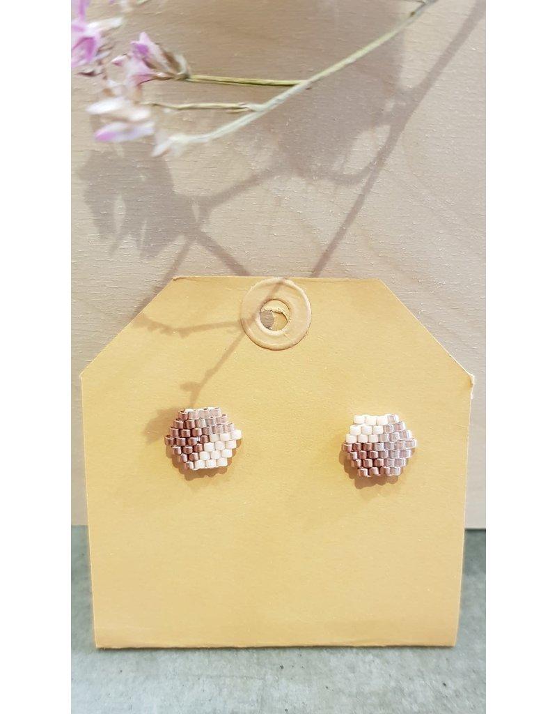 Adelina Oorstekers Sessie S3 roze -rosegold- pearl