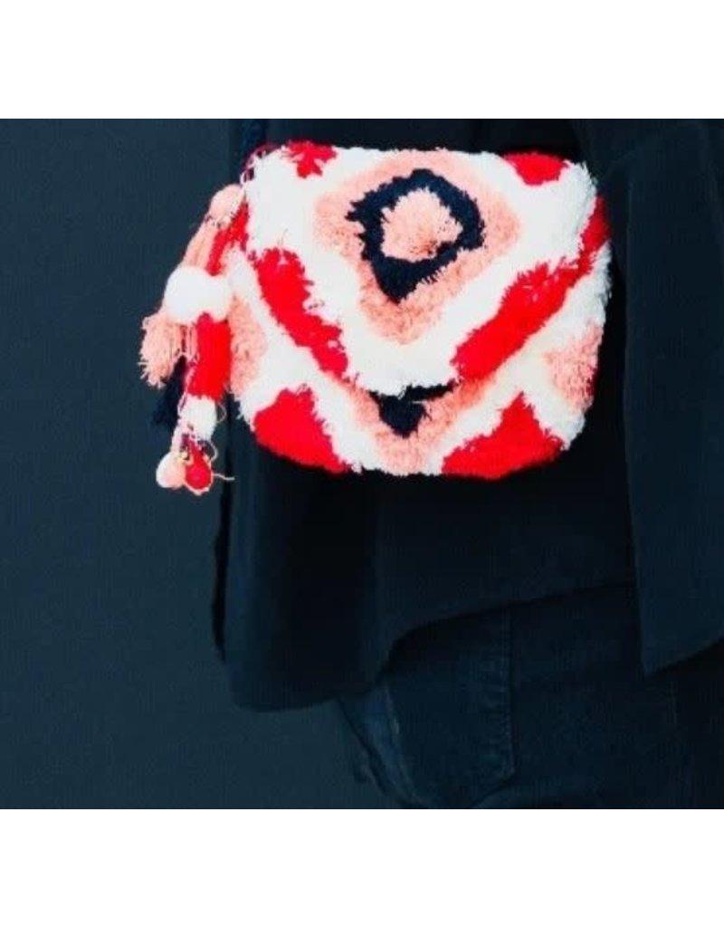 Maison Babou Little bag - red - white - salmon