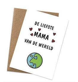 Graag Design Kaartje Graag-Design 'De liefste mama'