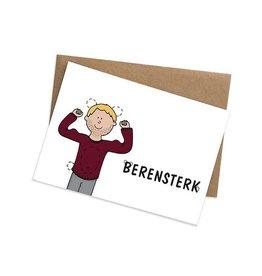 Graag Design Kaartje Graag-Design 'Berensterk'