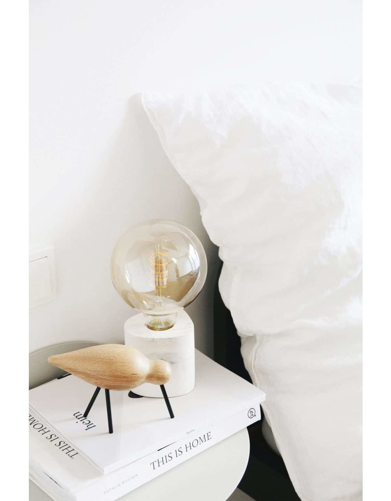 HOUSE RACCOON Walter table lamp - white marble