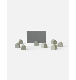 HOUSE RACCOON Bobby Card Holders (8x) - Olive green