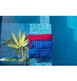Maison Babou Handtasje blauw en fuchsia- boho style