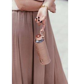 Equa Drinkfles cover voor Mismatch Ginkgo -Leather Bronze