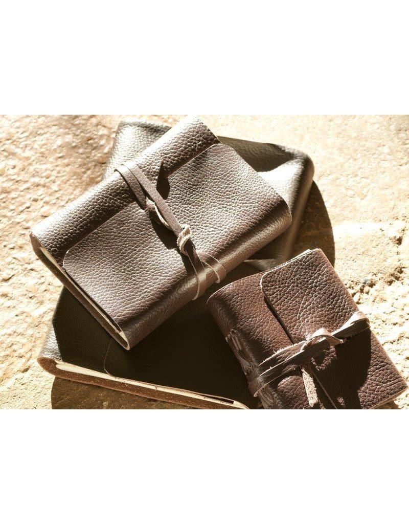 Nkuku Timu Leather Journal Dark Brown