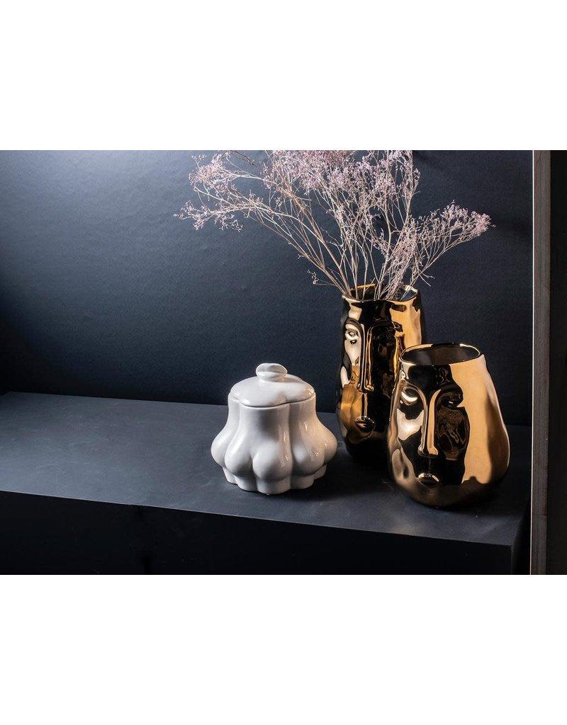 Gusta Gouden vaas met gezicht h24,5