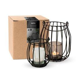 Gusta Set van 2 lantaarns voor kaarsjes