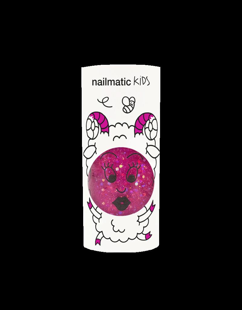 nailmatic Nagellak Kids glitter framboos - Sheepy