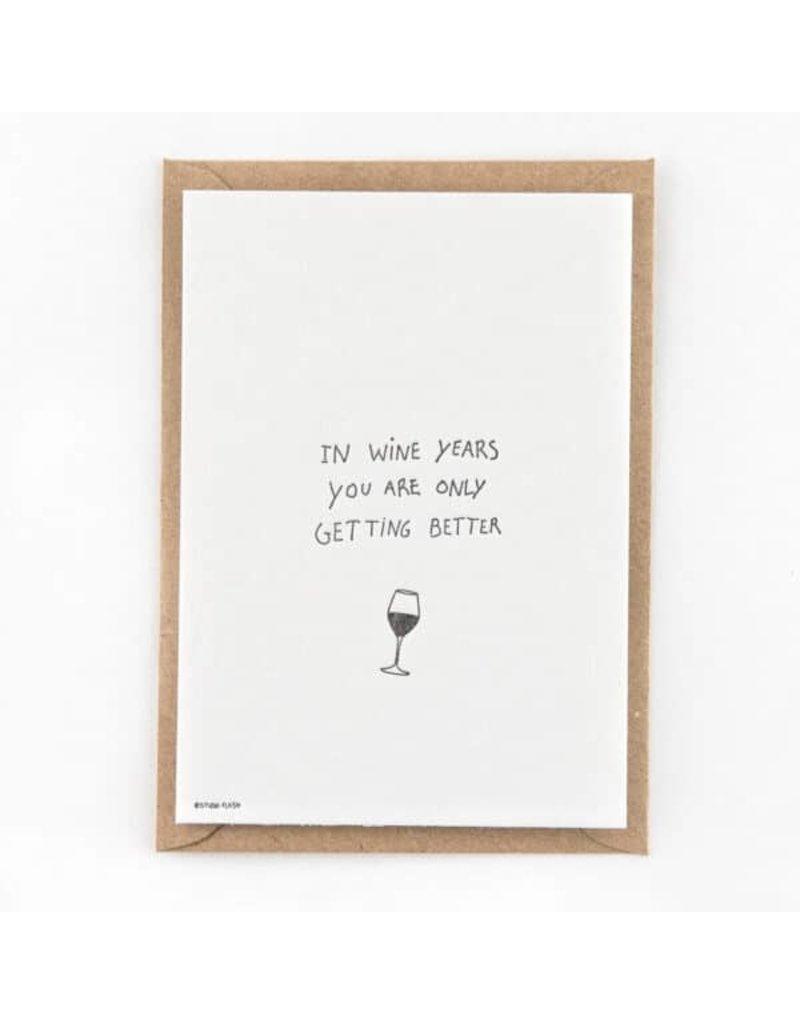 STUDIOFLASH Kaart 'wine years'