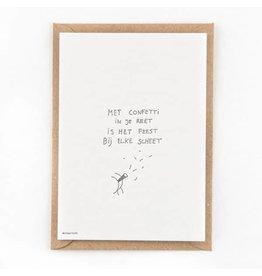 STUDIOFLASH Kaart 'Confetti in je...'