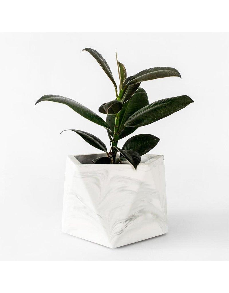 HOUSE RACCOON Mare Plantenpot – Large – White Marble