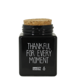My Flame Lifestyle Geurkaars - 'Thankful for every moment'- black